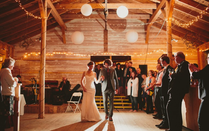 Wedding couple silhouetted at Hubbards Barn wedding