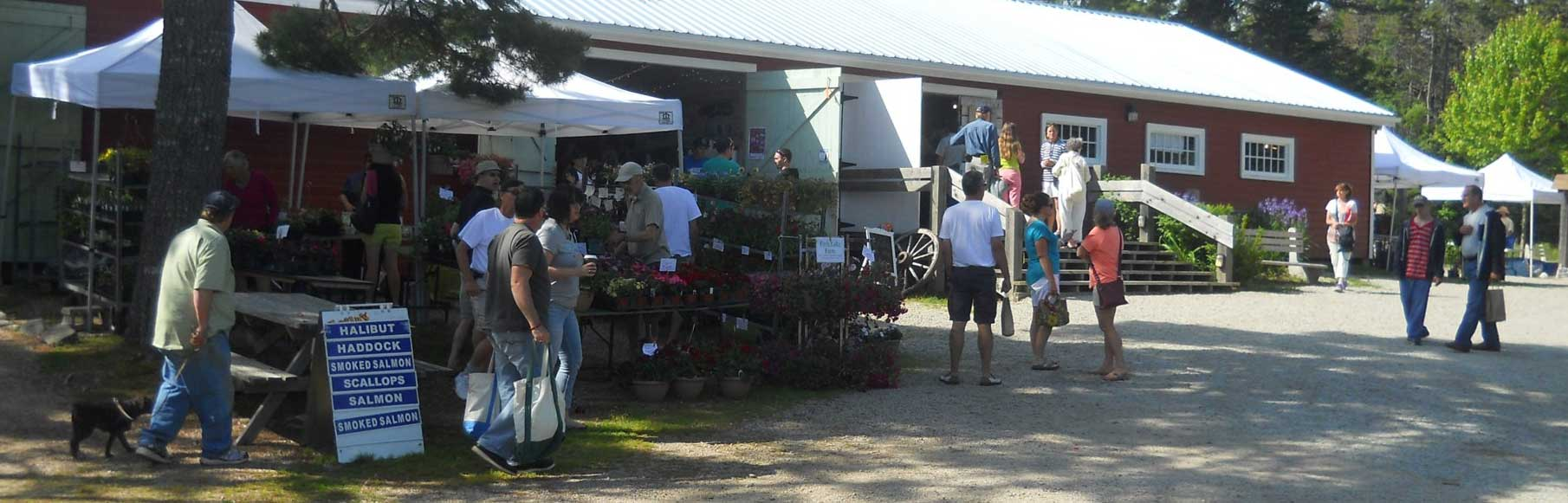 Farmers' Market Day at the Hubbards Barn